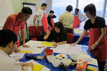 team collaborate tshirt masterpiece creative team building event