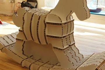small cardboard horse