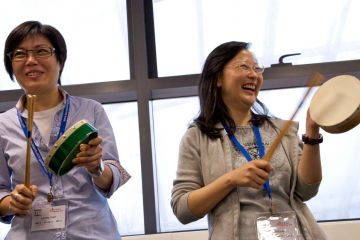 women playing instruments positive thinking