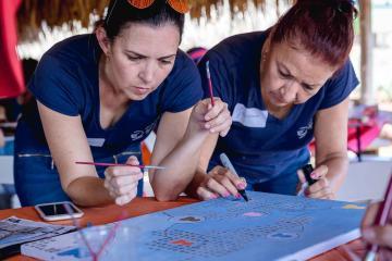 creative team building aruba