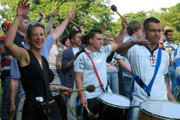 corporate drumming team building