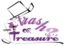 Pink and purple logo for Catalyst team building activity Trash or Treasure