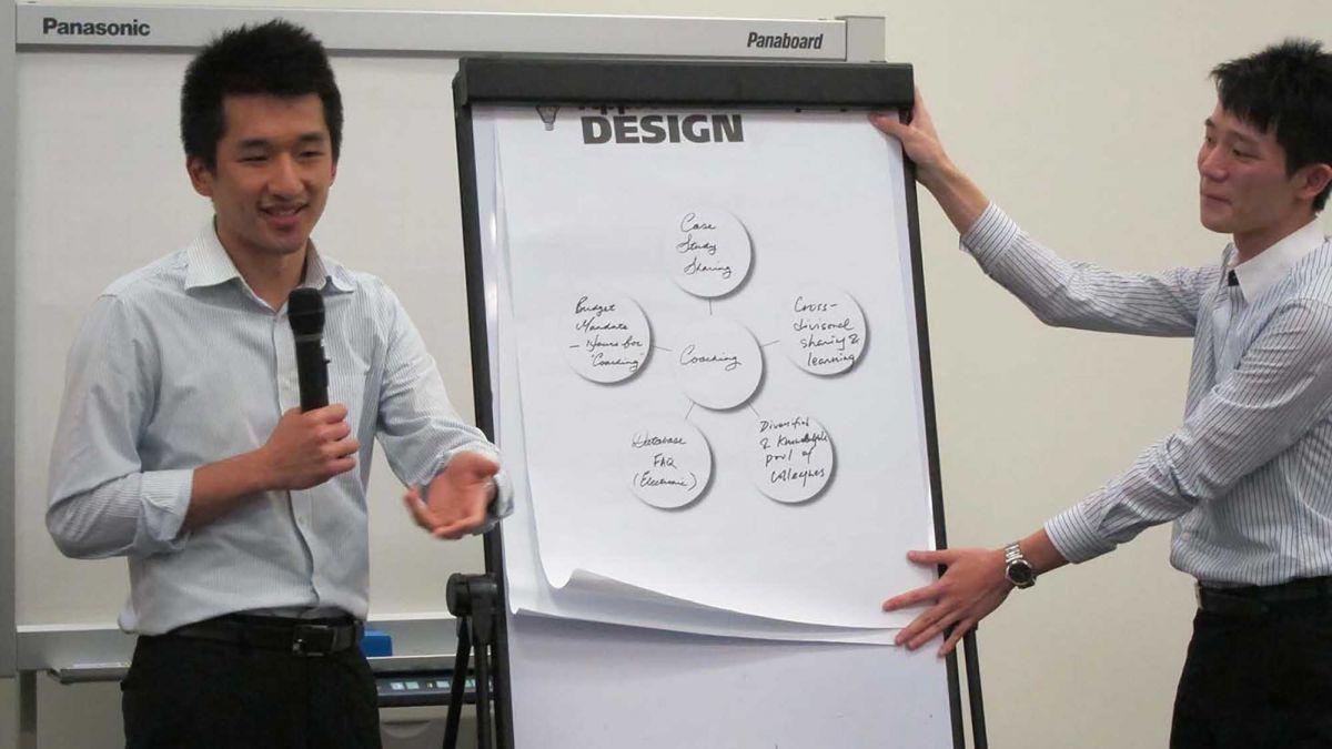 sharing company values through team building activity