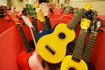 uke can do it musical team building event