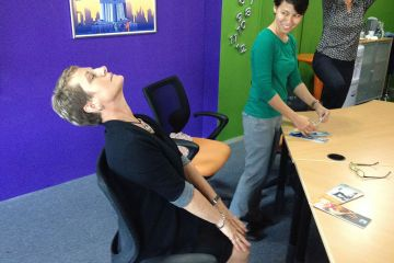 head to toe corporate relaxation team exercises