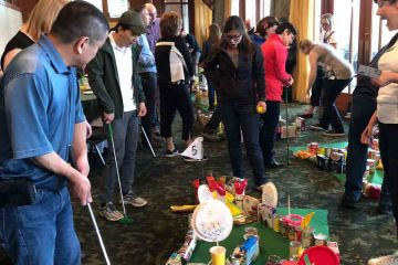 hole in one charity team building activity