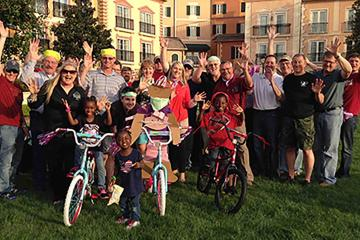 bike build social responsibility program team building USA
