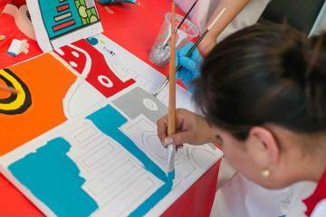 creative artistic team building  challenge