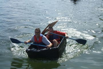 flat out afloat creative team building
