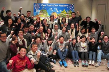 group photo the bic picture team building activity