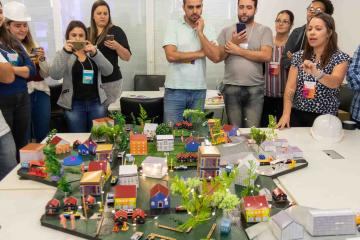 game day city build creative team building activity conquistar catalyst brazil