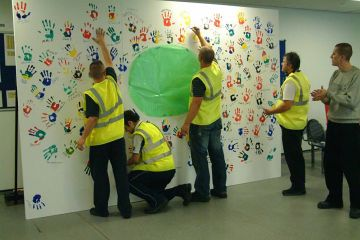 team building painting activity