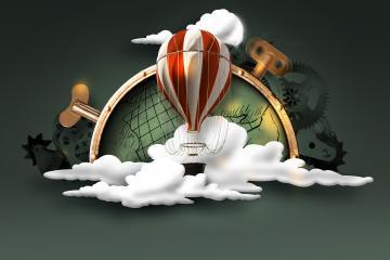 Race Around the World hot air balloon