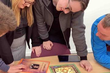 ar pyramid quest augmented reality team building game