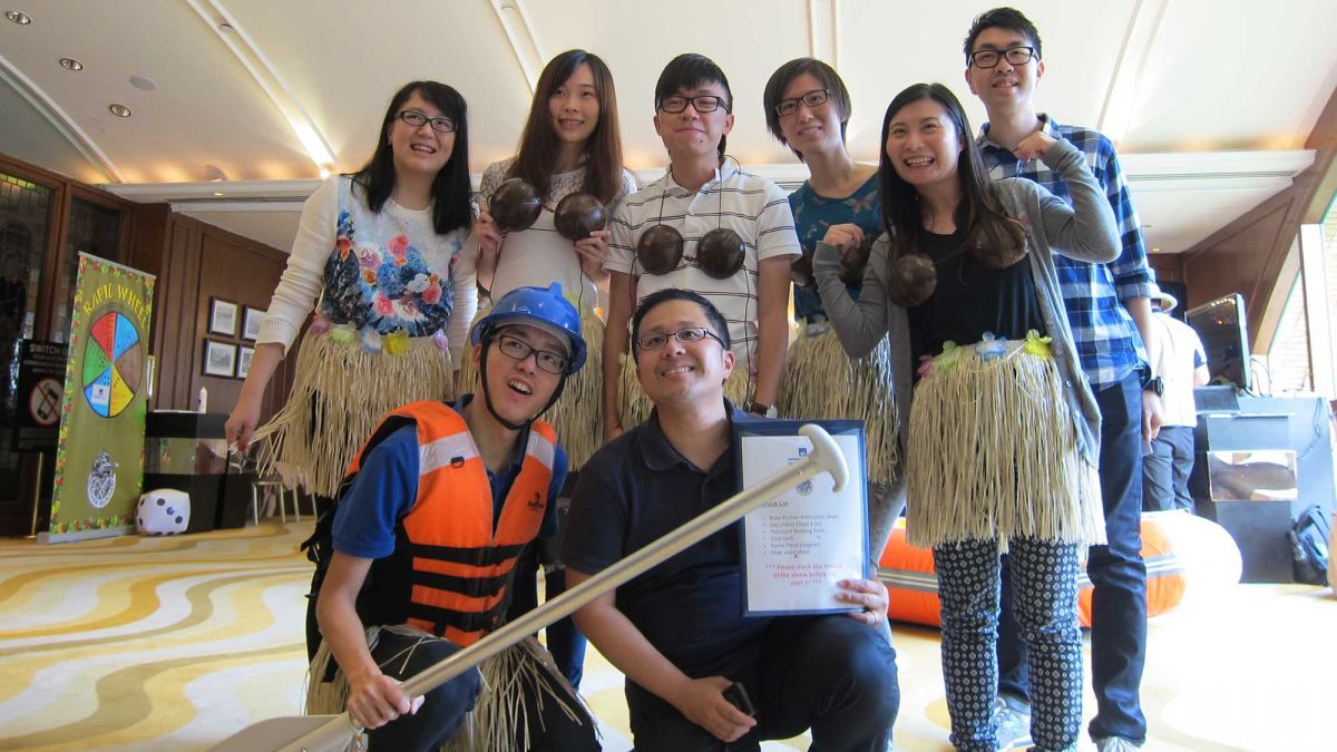 team celebrate together the outcome of rags to riches giving CSR activity