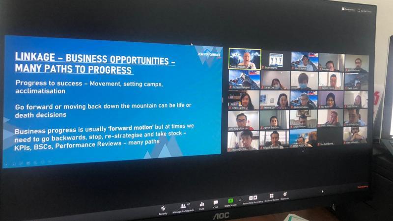 Debrief of virtual team building activity