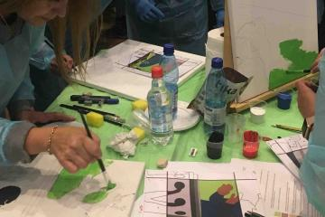 artistic team building activity catalyst chile