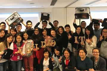 employees celebrate rewarding teamwork 2007