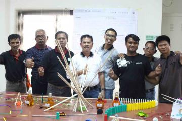Chain reaction team building activity indonesia