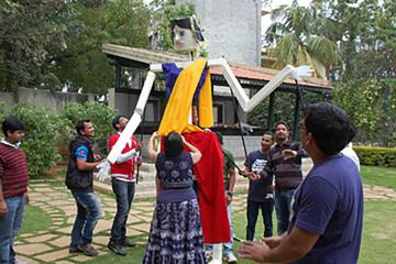 fun competitive collaborative team building activity India