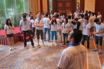 juggling motivator team building activity Le Meridien