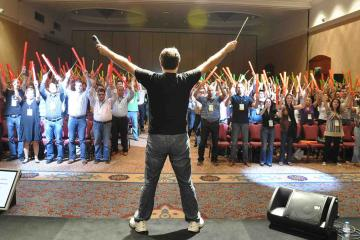 fun musical conference energiser team building Turkey