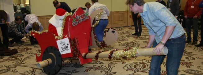 flat out sleigh ride christmas team building challenge