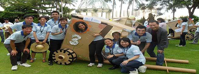 rickshaw rally corporate team building activity