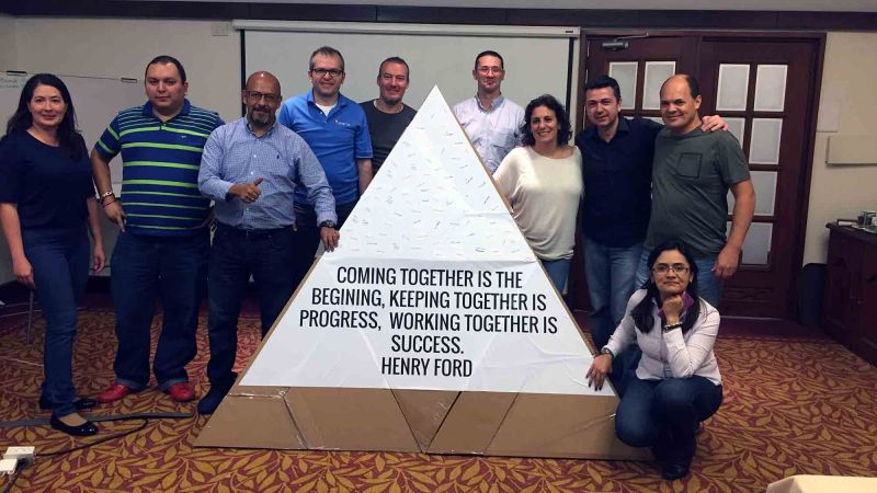 flat out pyramid puzzle creative team building activity