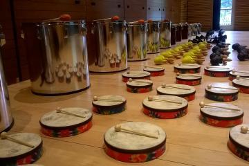 Drum factory rhythm team building