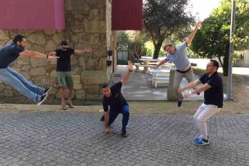 go team interactive outdoor fun activity team building Portugal