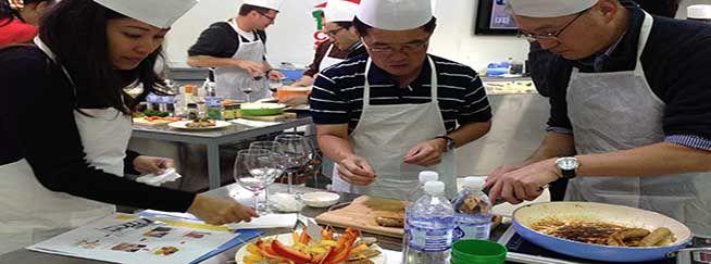sausage sensation cooking team building event