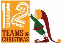 twelve teams of christmas logo