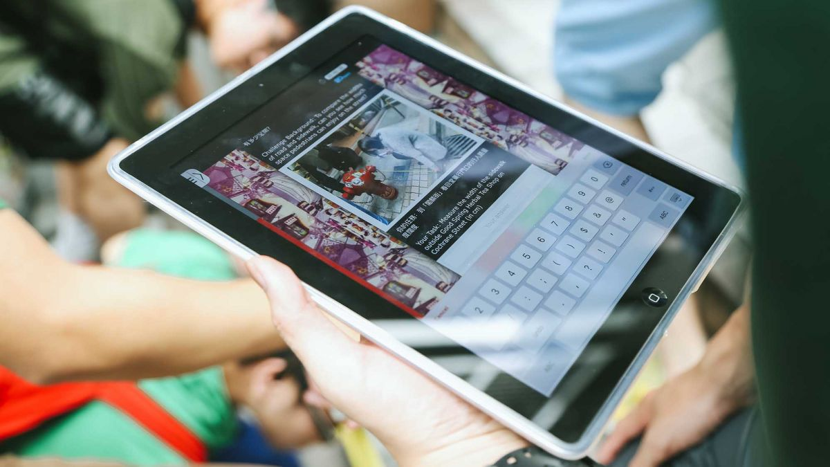 tablet interactive activity