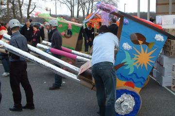 flat out rickshaw rally creative teambuilding