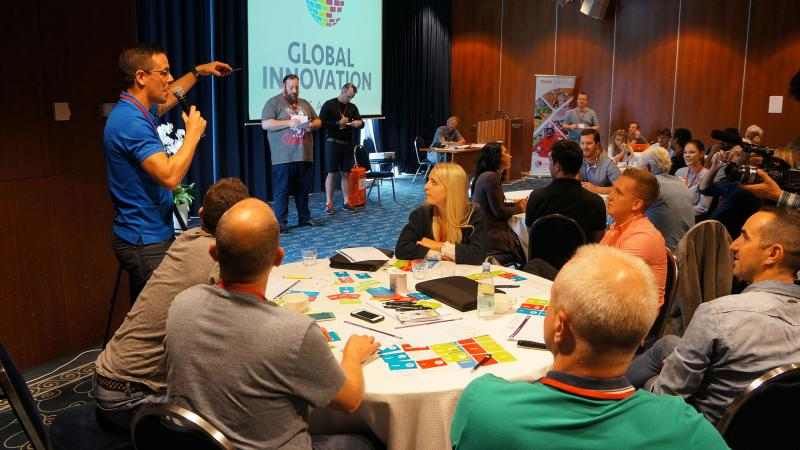 Global Innovation Game - Teams learn effective communication and innvoation
