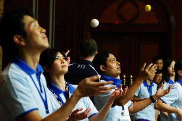 juggling motivator team building activity at shanghai sunrise