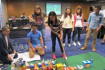golf charity team building activity