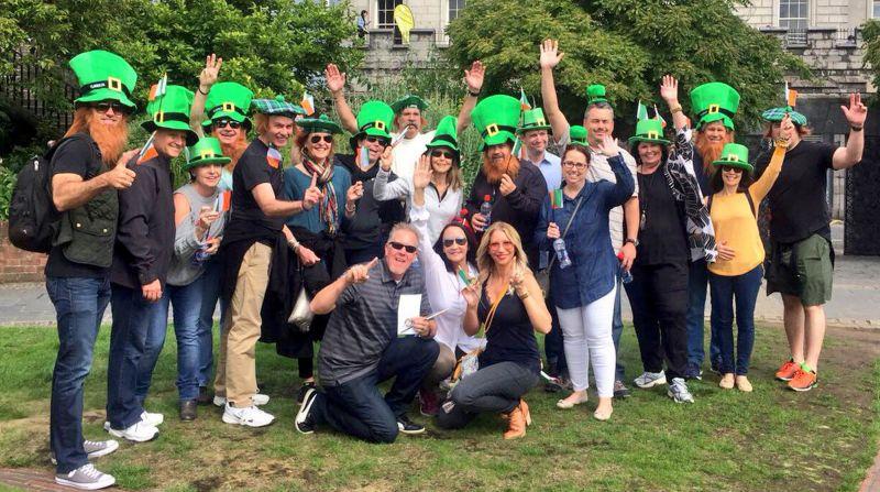 Happy Team on Dublin City Treasure Hunt