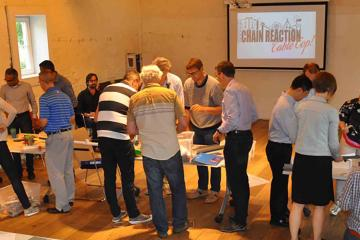 chain reaction team building activity Belgium