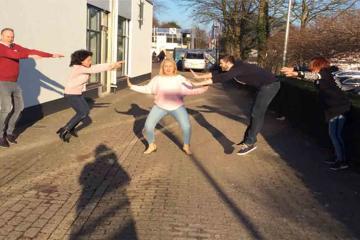 fun competitive team building activity Belgium