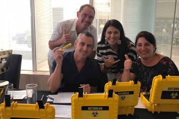challenging team building escape game catalyst australia