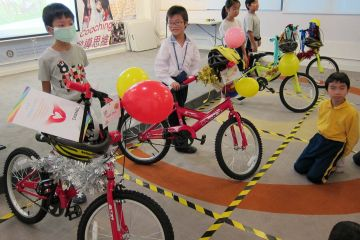happy children with bikes building a dream collaborative team building activity