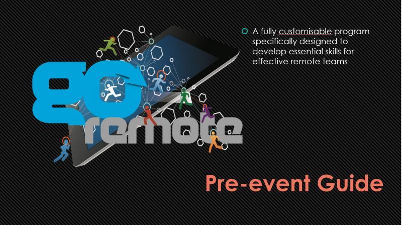 Go Remote - Pre-event Guide