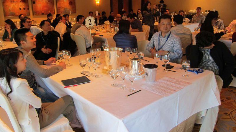 employees enjoying a corporate dinner event