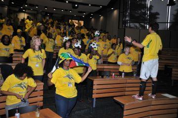 fan chants football team building activity
