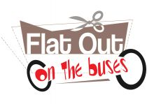 flat out on the buses logo