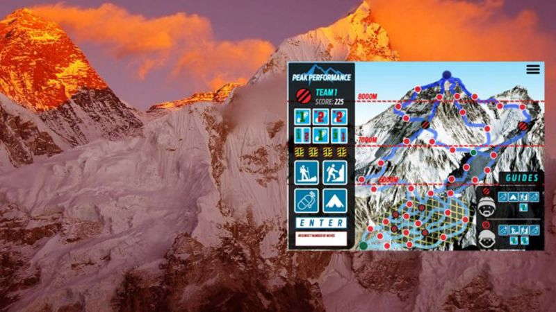 Everest themed business game