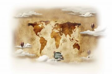 Race Around the World map